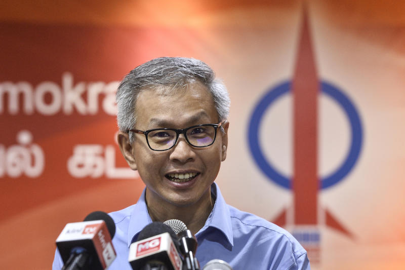 DAP national publicity secretary Tony Pua speaks to reporters during a press conference at the party headquarters in Petaling Jaya December 4, 2019. — Picture by Miera Zulyana