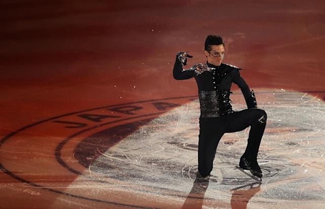 Performing in the Gala Exhibition on day3 of the ISU Grand Prix of Figure Skating NHK Trophy at Big Hat on Nov. 8, 2009, in Nagano, Japan.