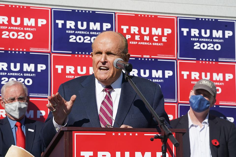 Attorney for the President, Rudy Giuliani, landscaping company, November ,Philadelphia.