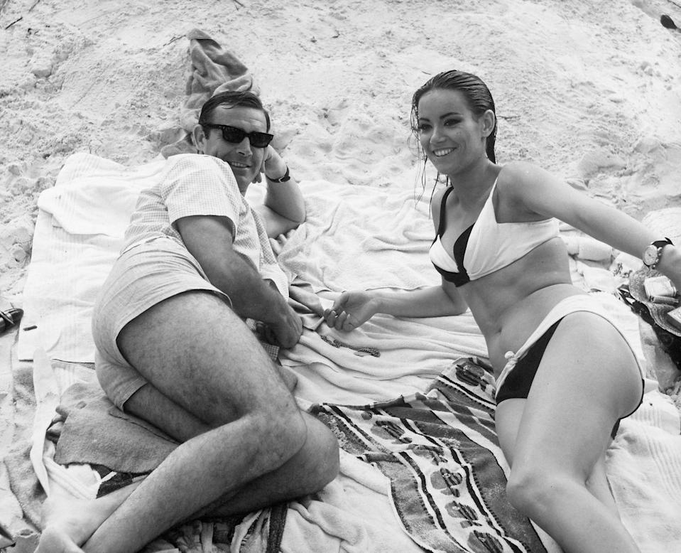 <p>Sean Connery and Claudine Auger in 'Thunderball', 1965.</p>