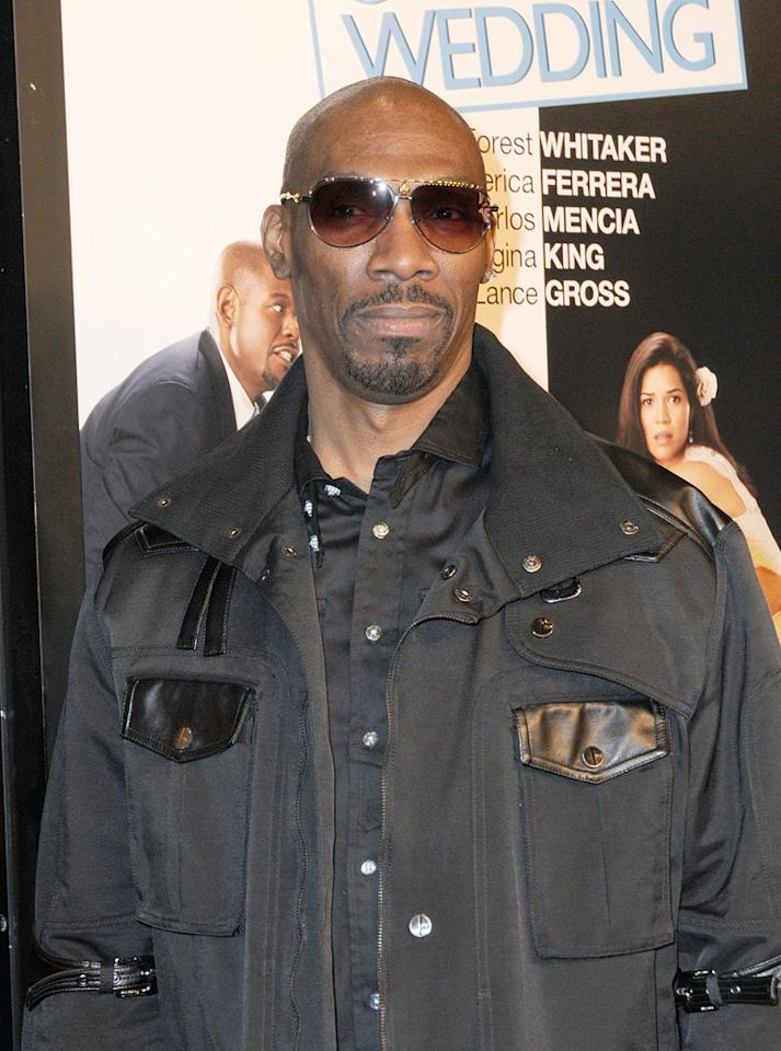 """<a href=""""http://movies.yahoo.com/movie/contributor/1809121950"""">Charlie Murphy</a> at the New York City premiere of <a href=""""http://movies.yahoo.com/movie/1810093971/info"""">Our Family Wedding</a> - 03/09/2010"""