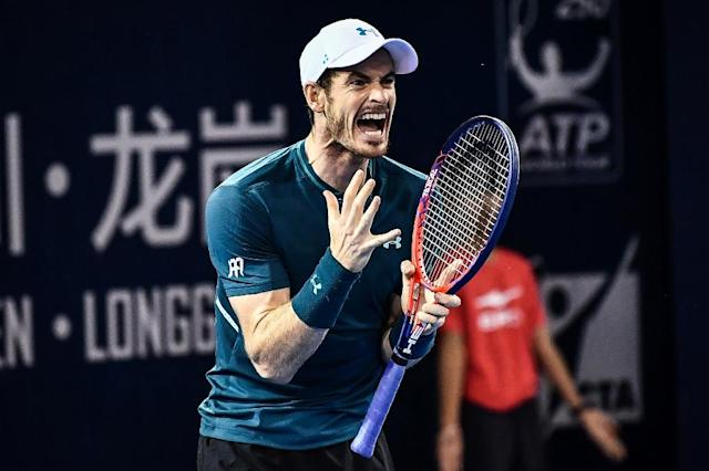 Andy Murray, has endured injury problems and pulled out of the China Open with an ankle complaint (AFP Photo/-)