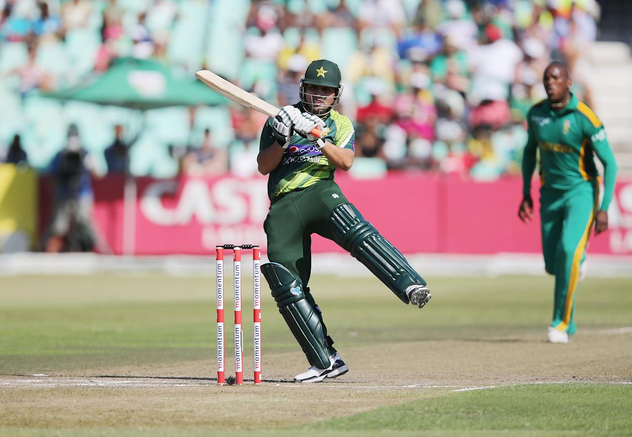 Kamran Akmal of Pakistan bats during the  ODI match between South Africa and Pakistan from Sahara Stadium Kingsmead on March 21, 2013 in Durban, South Africa,  AFP PHOTO  / Stringer        (Photo credit should read -/AFP/Getty Images)