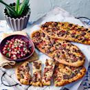 """<p>A little lamb mince goes a long way on these crisp and easy flatbreads, inspired by Turkey's answer to the pizza.</p><p><strong>Recipe: <a href=""""https://www.goodhousekeeping.com/uk/food/recipes/a35561382/red-pepper-and-lamb-lahmacun/"""" rel=""""nofollow noopener"""" target=""""_blank"""" data-ylk=""""slk:Red Pepper and Lamb Lahmacun"""" class=""""link rapid-noclick-resp"""">Red Pepper and Lamb Lahmacun</a></strong></p>"""