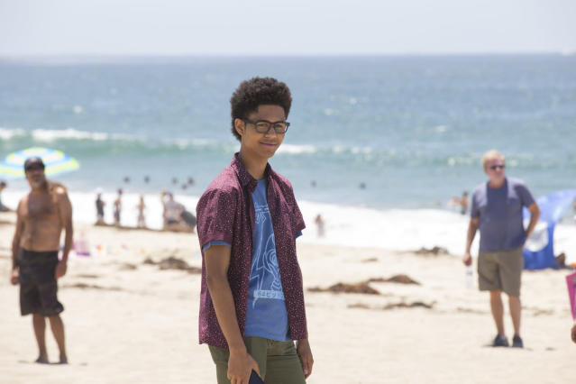 Rhenzy Feliz as Alex in <em>Marvel's</em> <em>Runaways</em>. (Photo: Paul Sarkis/Hulu)