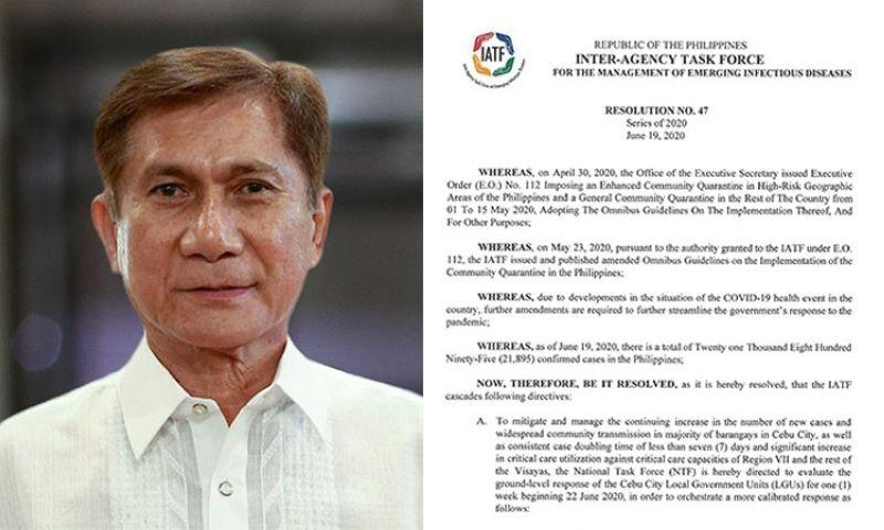 EXPLAINER: Worried over General Cimatu's coming to Cebu? Check out job description, marching order.