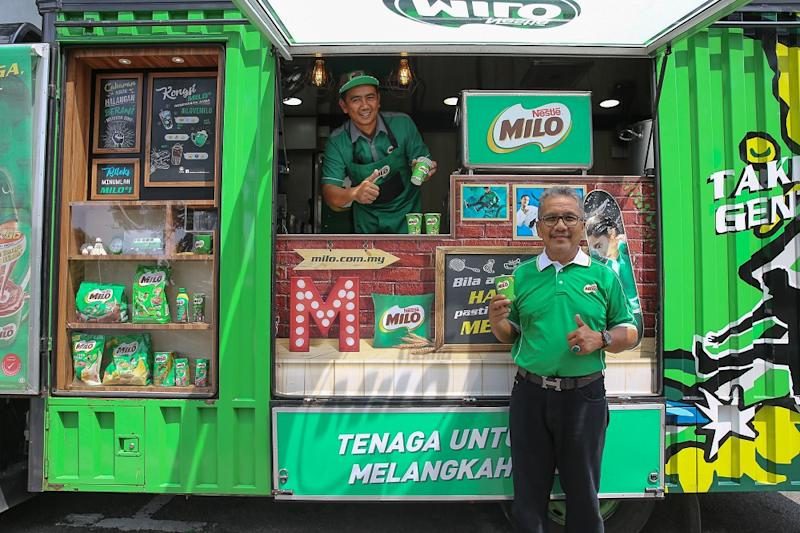 A tale of two 'Abang Milo' who became in-laws and what it
