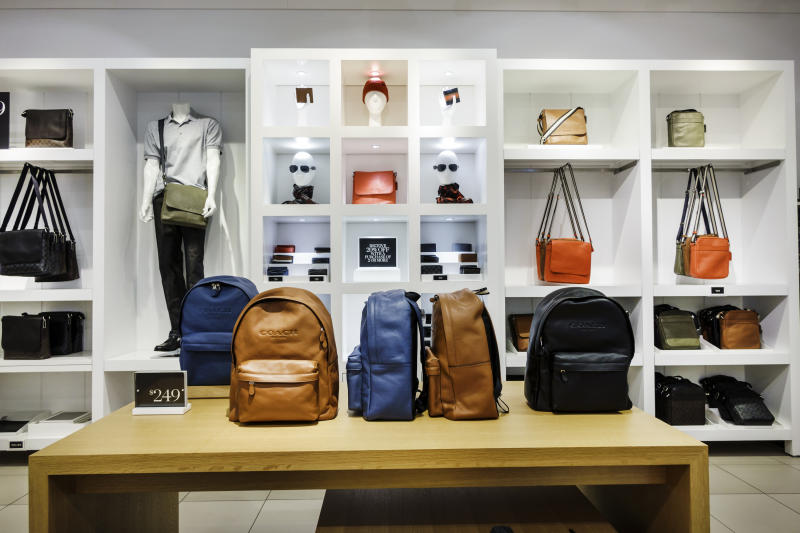 Coach bags on display in Sacks Fifth Avenue Outlet. (Photo by: Jeffrey Greenberg/Universal Images Group via Getty Images)