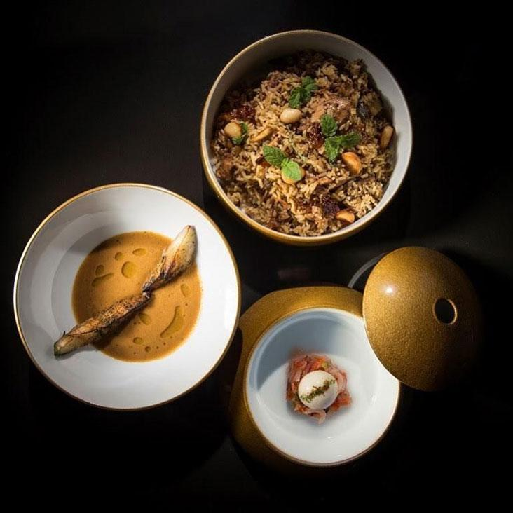 Country chicken biryani is elevated at Nadodi when served in a globe with three parts – Picture courtesy of Nadodi's Facebook