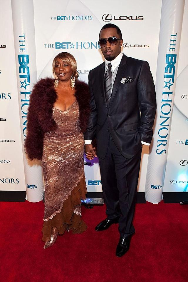 <p>Sean Combs arrives with his mother Janice Combs to the 3rd annual BET Honors at the Warner Theatre on January 16, 2010 in Washington, DC. </p>