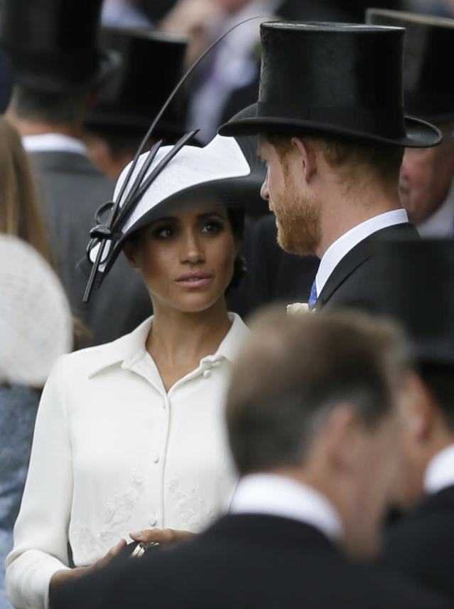 Meghan Markle attended her first Royal Ascot with Prince Harry. (Photo: AP Photo/Tim Ireland)