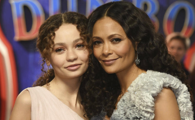 Photo by: KGC-03/STAR MAX/IPx 2019 3/21/19 Thandie Newton and Nico Parker at the UK Premiere of 'Dumbo' in London, England.
