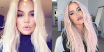 <p>Khloé recently debuted her bleach blonde hair, but she decided she wasn't done and added some pink to her new 'do that's still perfect for winter!</p>
