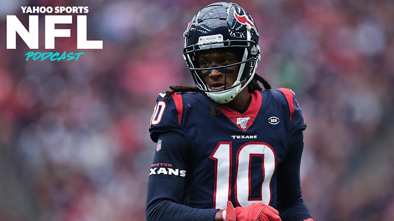 Former Houston WR DeAndre Hopkins was traded to the Arizona Cardinals Monday in a head-scratching deal. (Photo by Mark Brown/Getty Images)