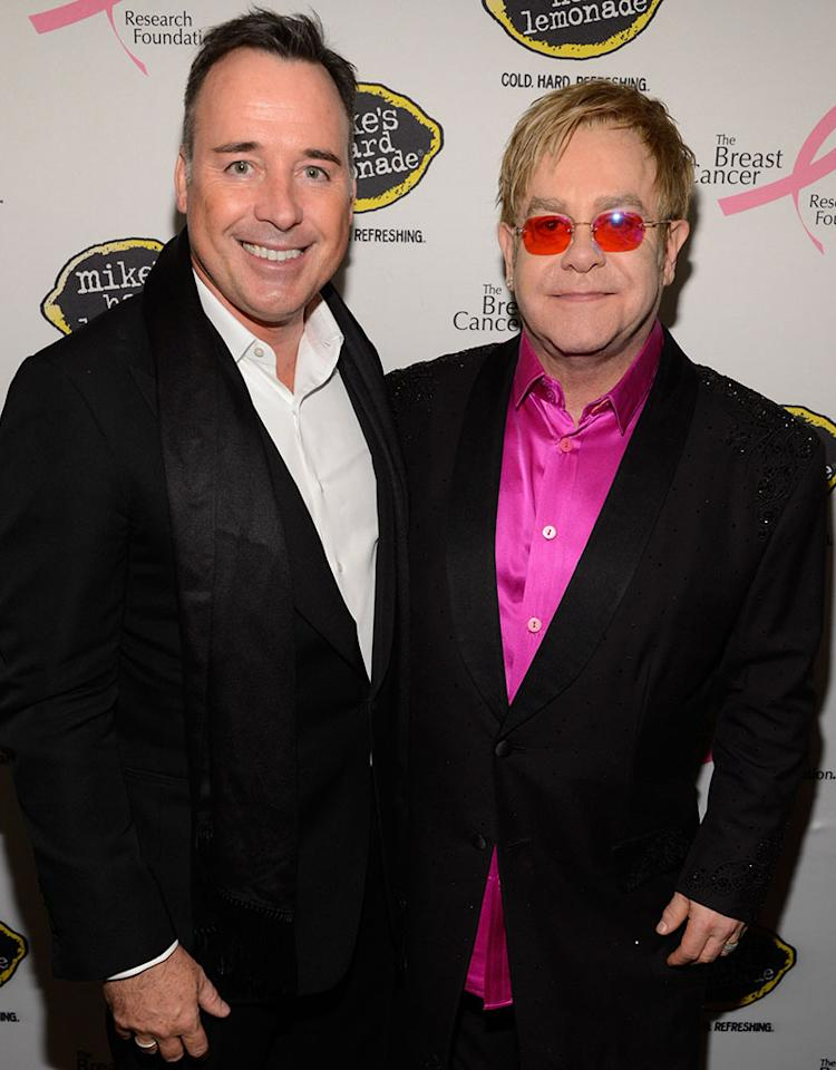 "Elton John, 66, and David Furnish, 50, have been an item since 1993, and have two sons, Zachary, 2, and 5-month-old Elijah. The couple tied the knot in a civil partnership ceremony in the U.K. in 2005, but the ""Crocodile Rock"" singer upset the gay community in 2008 when he told <a href=""http://usatoday30.usatoday.com/life/people/2008-11-12-elton-john_N.htm"" target=""_blank"">USA Today</a>: ""I don't want to be married. I'm very happy with a civil partnership. If gay people want to get married, or get together, they should have a civil partnership. The word 'marriage,' I think, puts a lot of people off."" By 2011, John had changed his tune. While performing at a private fundraiser to overturn California's gay marriage ban, he stated, <span style=""background: white;"">""It seems so ridiculous I could be with my partner for 17 years and we have a son, and my partner and I can't get married."" Looks like now they can!</span>"