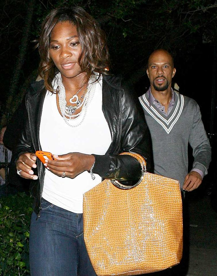 """Serena Williams and Common leave New York's trendy Waverly Inn. T/<a href=""""http://www.x17online.com"""" target=""""new"""">X17 Online</a> - July 6, 2009"""