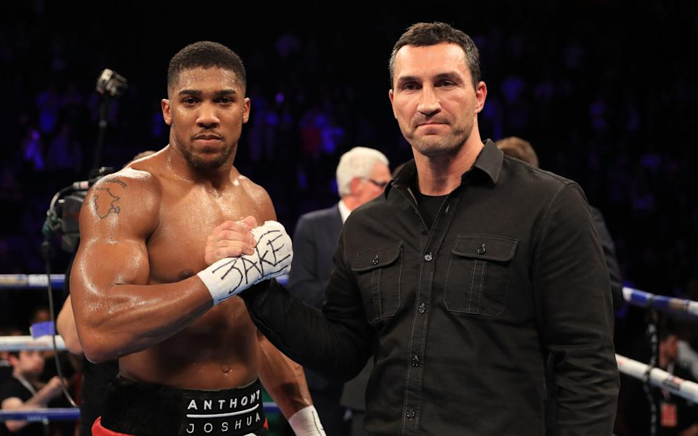 Anthony Joshua and Wladimir Klitschko - Credit: Getty Images