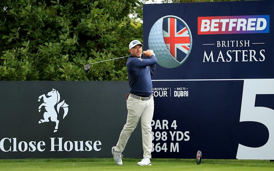 Lee Westwoodin action during a practice round at the Betfred British Masters at Close House Golf Club on July 21, 2020 in Newcastle upon Tyne - - GETTY IMAGES