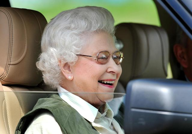 The Queen sitting in her Land Rover. [Photo: PA]