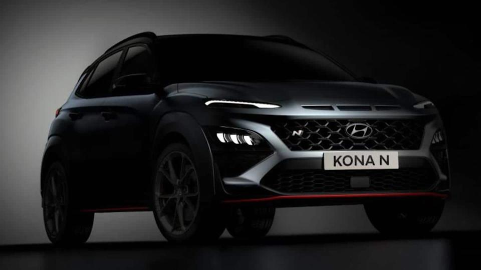 Ahead of unveiling, Hyundai KONA N previewed in official images