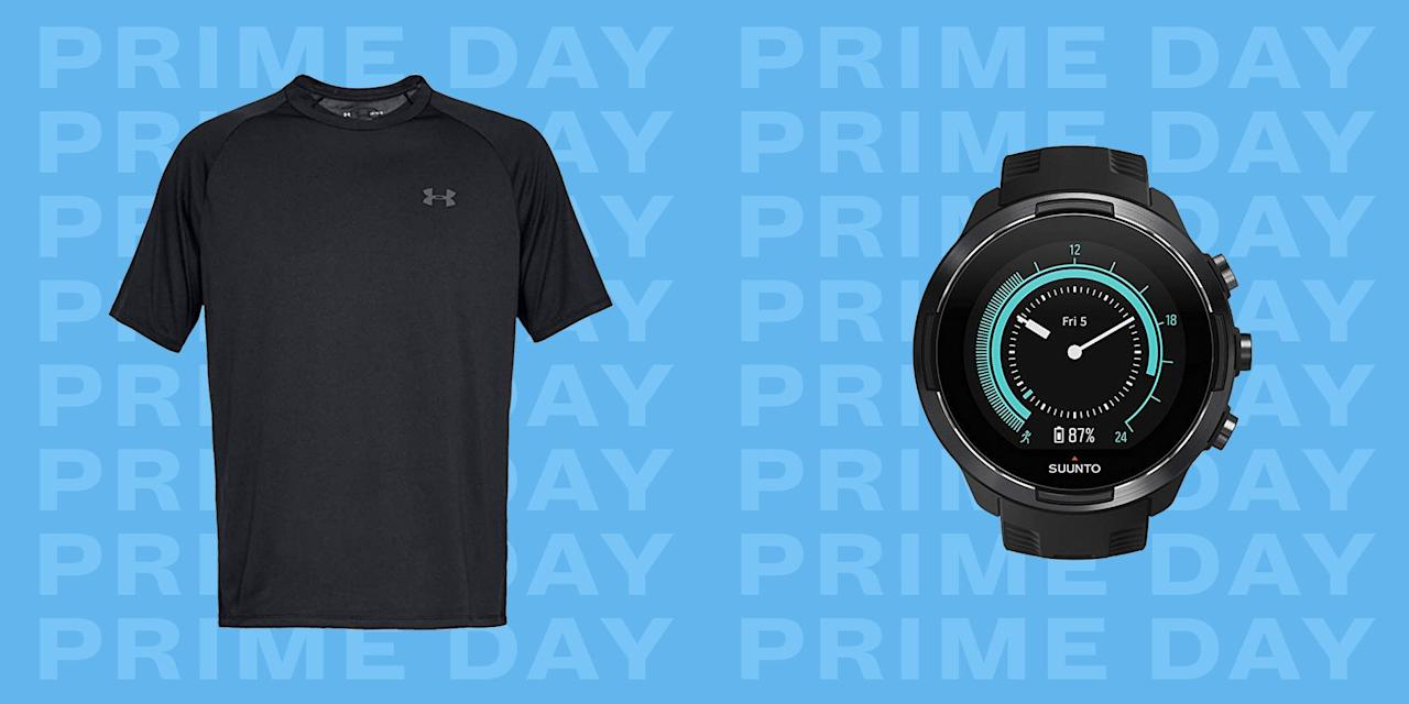 """<p>Getting a workout in is a lot less painful when you have a few things that help make the whole process easier. Luckily, <a href=""""https://www.amazon.com/l/13887280011"""" target=""""_blank"""">Amazon Prime Day 2019</a> is here to get you those things at an even better price. It starts simple, maybe with a pair of shorts, tees, and shoes that get the job done without getting in the way. Then, you can level up with more workout-specific gear, like fitness trackers, sport headphones, and compression shorts. And if you're really going for it, there are at-home treadmills and stationary bikes on sale, so you don't even need to leave your house. <a href=""""https://www.amazon.com/l/13887280011"""" target=""""_blank"""">Amazon Prime Day</a>'s fitness deals don't disappoint. Here are the best ones to shop now. (And check out the best Prime deals on <a href=""""https://www.esquire.com/lifestyle/a28396300/best-amazon-prime-day-tv-deals-2019/"""" target=""""_blank"""">4K TVs</a>, <a href=""""https://www.esquire.com/lifestyle/g28377111/best-amazon-prime-day-tech-deals-2019/"""" target=""""_blank"""">tech</a>, and <a href=""""https://www.esquire.com/style/mens-fashion/g28369171/best-amazon-prime-day-fashion-clothing-grooming-deals-2019/"""" target=""""_blank"""">men's style</a>.)</p>"""