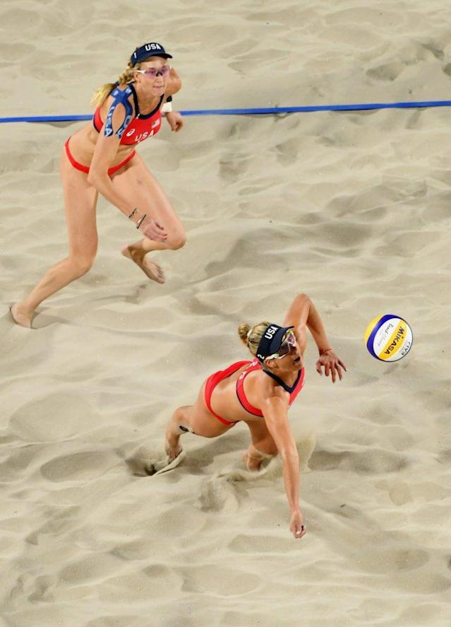 April Ross, diving. (GEtty Images)
