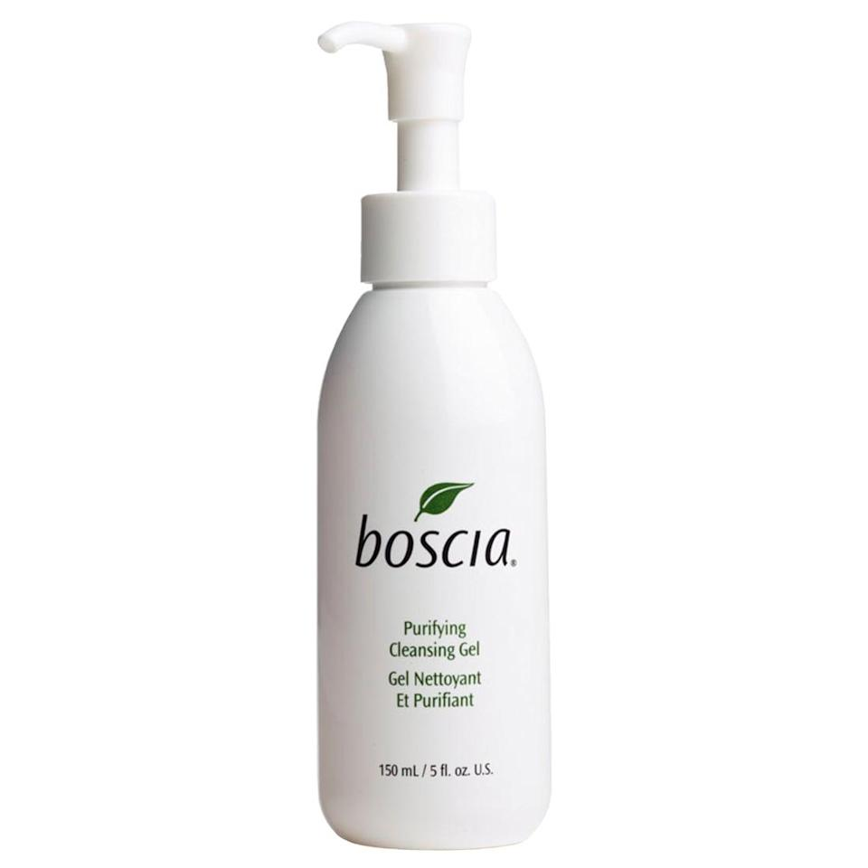 <p>The surprising hydrating <span>Boscia Purifying Cleansing Gel</span> ($28) features hydrangea, which adds moisture back into the skin while also gently cleansing your pores.</p>