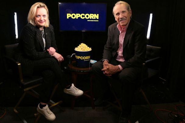 PHOTO: Elisabeth Moss appears on 'Popcorn with Peter Travers' at ABC News studios, Feb. 27, 2020, in New York City. (Emilie Richardson/ABC News)