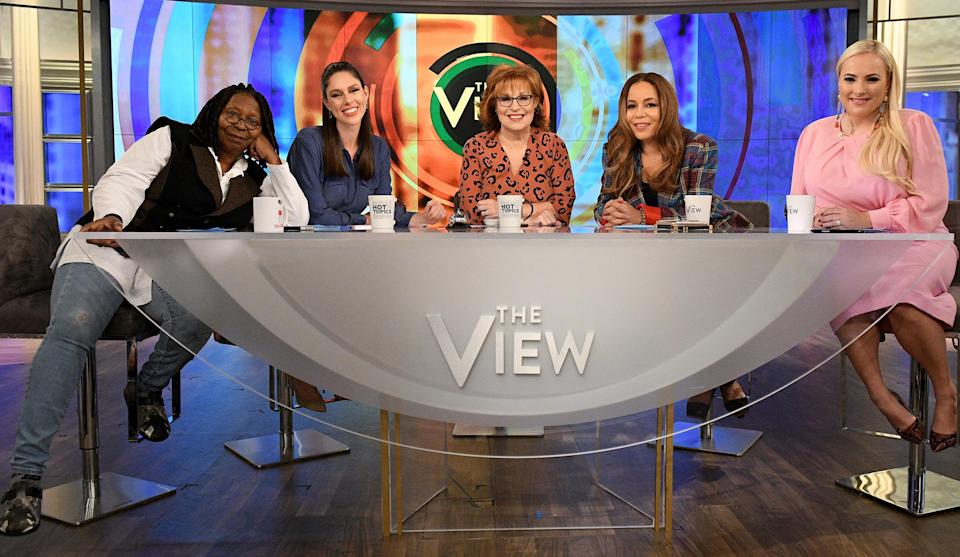 "Goldberg and ""The View"" co-hosts. Image via Getty Images."