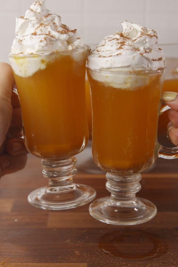 """<p>Your favorite fall pie as a boozy punch.</p><p>Get the recipe from <a href=""""https://www.delish.com/cooking/recipe-ideas/recipes/a55682/pumpkin-pie-punch-recipe/"""" rel=""""nofollow noopener"""" target=""""_blank"""" data-ylk=""""slk:Delish"""" class=""""link rapid-noclick-resp"""">Delish</a>.</p>"""