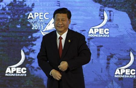 China's President Xi Jinping attends the Asia-Pacific Economic Cooperation (APEC) CEO Summit in Nusa Dua, on the Indonesian resort island of Bali October 7, 2013. REUTERS/Edgar Su