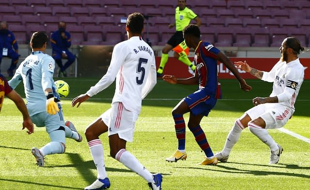 Barcelona's 17-year-old Ansu Fati became the youngest scorer in El Clasico