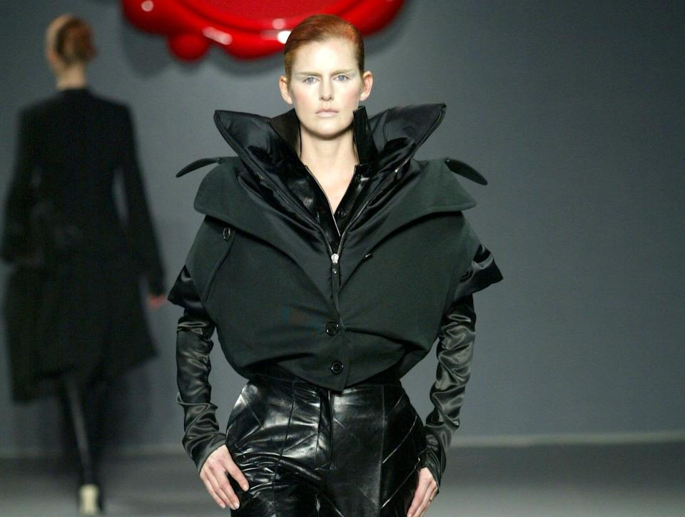 Stella Tennant joined actress Tilda Swinton in walking for Viktor and Rolf in 2003Rex Features
