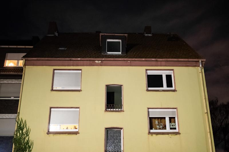 20 December 2019, North Rhine-Westphalia, Recklinghausen: The apartment building in which police searches had previously taken place. During a search of an apartment on suspicion of child pornography, the police discovered a 15-year-old man who had been missing for some time. Photo: Marcel Kusch/dpa (Photo by Marcel Kusch/picture alliance via Getty Images)