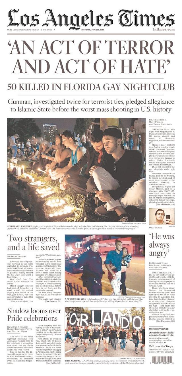 <p>Los Angeles Times<br> Published in Los Angeles, Calif. USA.(newseum.org) </p>