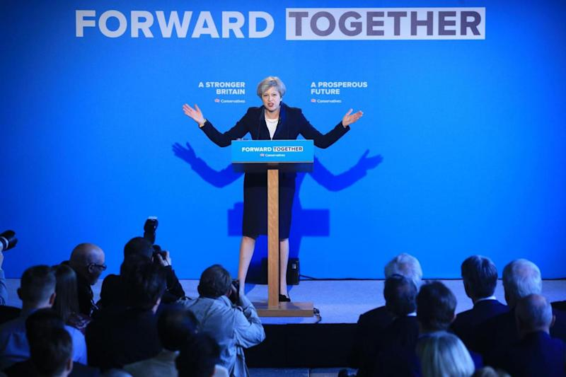 Manifesto launch: Prime Minister Theresa May (PA)