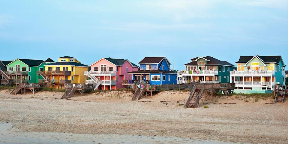 """<p>Some of the best beaches on the East Coast can be found in the <a href=""""https://www.bestproducts.com/fun-things-to-do/g19495690/beautiful-north-carolina-beaches/"""" rel=""""nofollow noopener"""" target=""""_blank"""" data-ylk=""""slk:Outer Banks"""" class=""""link rapid-noclick-resp"""">Outer Banks</a>, a 130-mile-long barrier island chain off the coast of North Carolina. You'll find pristine strands in the towns of <a href=""""https://www.tripadvisor.com/Tourism-g49088-Duck_Outer_Banks_North_Carolina-Vacations.html"""" rel=""""nofollow noopener"""" target=""""_blank"""" data-ylk=""""slk:Duck"""" class=""""link rapid-noclick-resp"""">Duck</a>, <a href=""""https://www.tripadvisor.com/Tourism-g49382-Nags_Head_Outer_Banks_North_Carolina-Vacations.html"""" rel=""""nofollow noopener"""" target=""""_blank"""" data-ylk=""""slk:Nags Head"""" class=""""link rapid-noclick-resp"""">Nags Head</a>, and <a href=""""https://www.tripadvisor.com/Attraction_Review-g49256-d108046-Reviews-Wright_Brothers_National_Memorial-Kill_Devil_Hills_Outer_Banks_North_Carolina.html"""" rel=""""nofollow noopener"""" target=""""_blank"""" data-ylk=""""slk:Kill Devil Hills"""" class=""""link rapid-noclick-resp"""">Kill Devil Hills</a>, which is where the Wright Brothers took their first flight over the area's sand dunes.</p><p><a class=""""link rapid-noclick-resp"""" href=""""https://go.redirectingat.com?id=74968X1596630&url=https%3A%2F%2Fwww.tripadvisor.com%2FHotel_Review-g49256-d94533-Reviews-Best_Western_Ocean_Reef_Suites-Kill_Devil_Hills_Outer_Banks_North_Carolina.html&sref=https%3A%2F%2Fwww.redbookmag.com%2Flife%2Fg34756735%2Fbest-beaches-for-vacations%2F"""" rel=""""nofollow noopener"""" target=""""_blank"""" data-ylk=""""slk:BOOK NOW"""">BOOK NOW</a> Best Western Ocean Reef Suites</p><p><a class=""""link rapid-noclick-resp"""" href=""""https://go.redirectingat.com?id=74968X1596630&url=https%3A%2F%2Fwww.tripadvisor.com%2FHotel_Review-g49088-d113382-Reviews-Sanderling_Resort-Duck_Outer_Banks_North_Carolina.html&sref=https%3A%2F%2Fwww.redbookmag.com%2Flife%2Fg34756735%2Fbest-beaches-for-vacations%2F"""" rel=""""nofollow noopener"""" target=""""_blank"""" data-"""