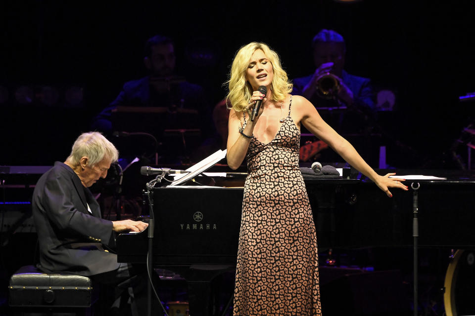 Photo by: zz/KGC-138/STAR MAX/IPx 2019 7/17/19 Burt Bacharach and Joss Stone performing in concert at the Eventim Apollo as part of the Apollo Nights Summer Concert Series in London, England, UK.