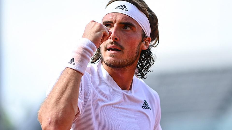 Stefanos Tsitsipas, pictured here in action against Pedro Martinez at the French Open.