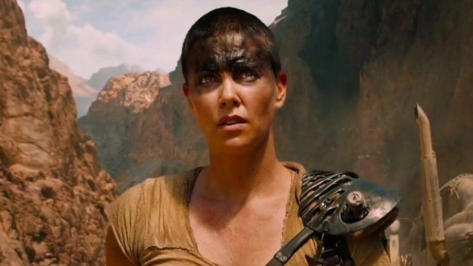 Charlize Theron as Furiosa in 'Mad Max: Fury Road'. (Credit: Warner Bros)