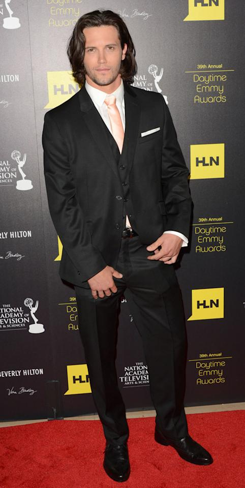 Nathan Parsons arrives at The 39th Annual Daytime Emmy Awards held at The Beverly Hilton Hotel on June 23, 2012 in Beverly Hills, California.