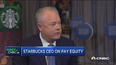 Kevin Johnson, Starbucks president & CEO, talks about the company's commitment to equal pay for all employees.