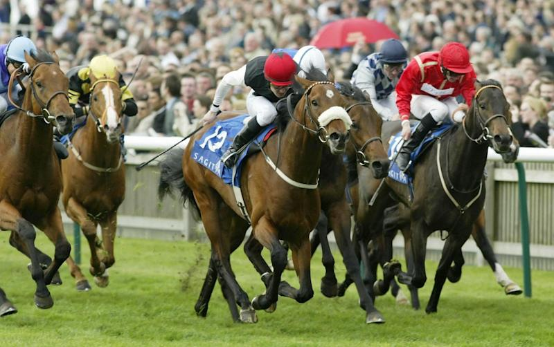 Pat Smullen and Refuse To Bend after landing the Sagitta 2000 Guineas Stakes at Newmarket, 2003 - Julian Herbert/Getty Images