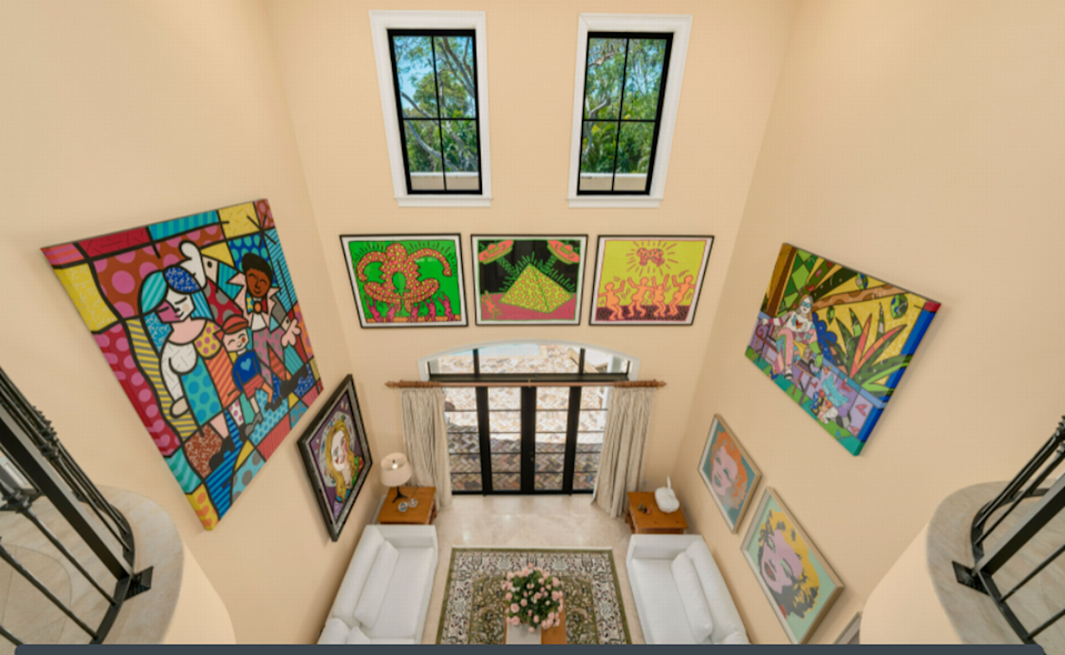 The art work is not included in the sale of Romero Britto's Pinecrest home/1 Oak Studios