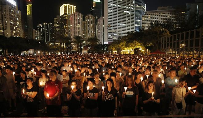 The alliance hopes Hongkongers can return to Victoria Park for future vigils. Photo: AP