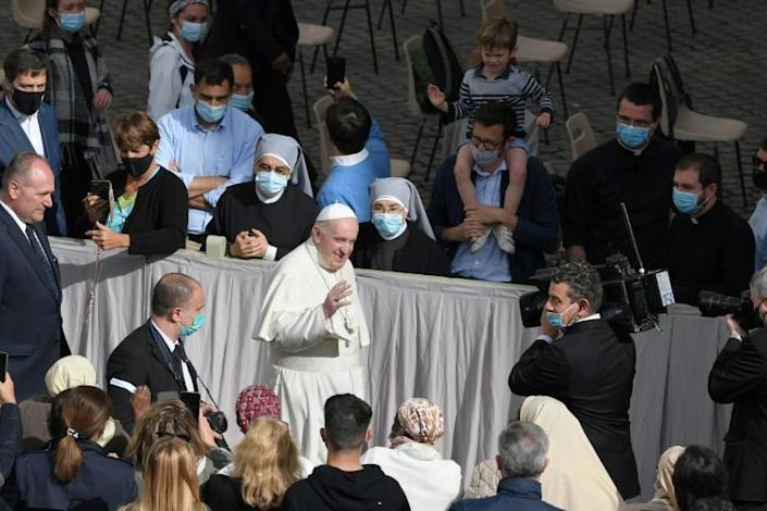 The pope abandoned his Wednesday public audiences when coronavirus swept across Italy early last year