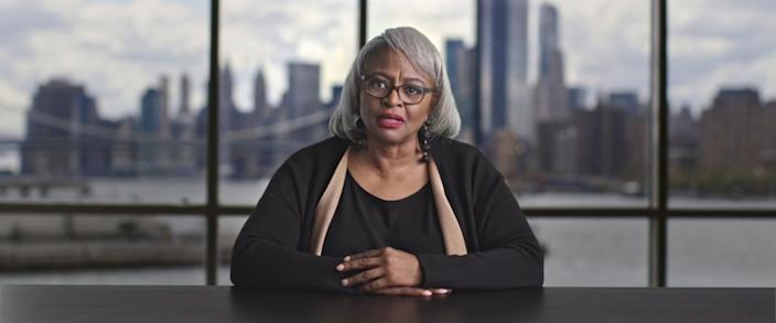 """Emory University professor Carol Anderson in """"All In: The Fight for Democracy."""" <span class=""""copyright"""">(Amazon Studios)</span>"""