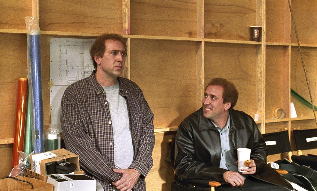 "<a href=""http://movies.yahoo.com/movie/1807816315/info"">Adaptation</a> (2002): Cage earned an Academy Award nomination for his portrayal of screenwriter Charlie Kaufman and his identical (and fictional) twin brother, Donald, in Spike Jonze's brilliantly mind-bending comedy. And he seemed to be having the time of his life playing these contrasting roles: the self-loathing and stumped Charlie, as well as the goofy and garrulous Donald. After brooding his way through a series of films leading up to this (""8MM,"" ""Bringing Out the Dead,"" ""Windtalkers""), he lets loose again here even while creating two distinct, structured personalities, and his enthusiasm is contagious."