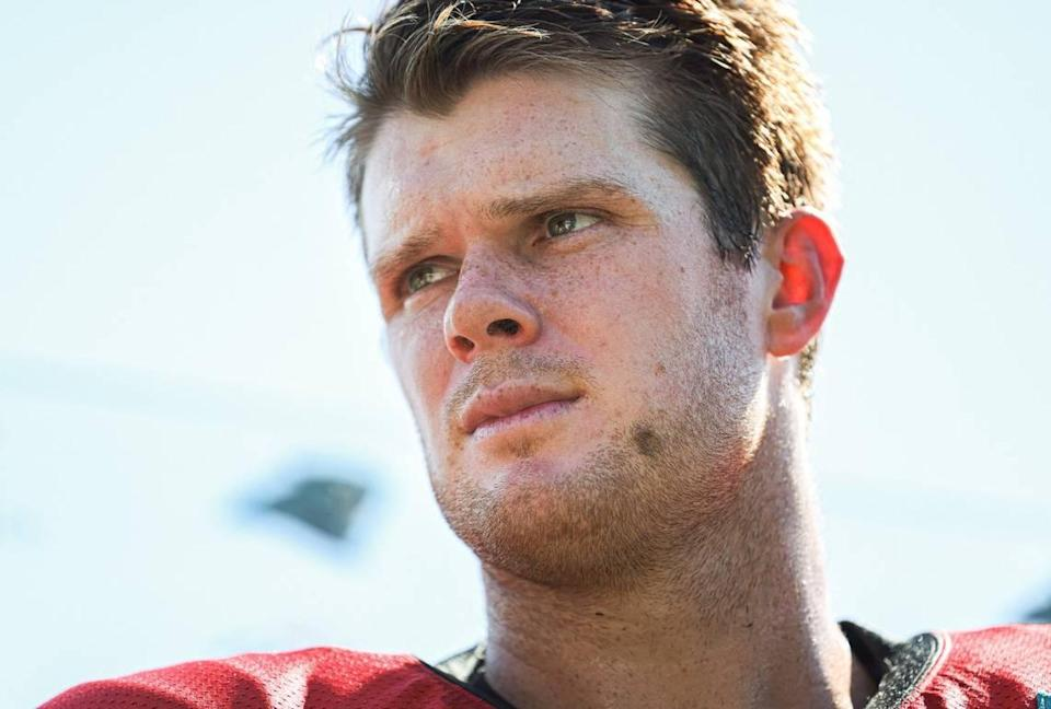 The Panthers gave up three draft picks to wrest Sam Darnold away from the New York Jets in April, after the Jets were satisfied that Zach Wilson could be their QB of the future.