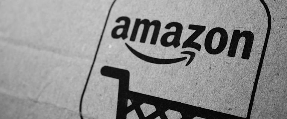Amazon package with logo